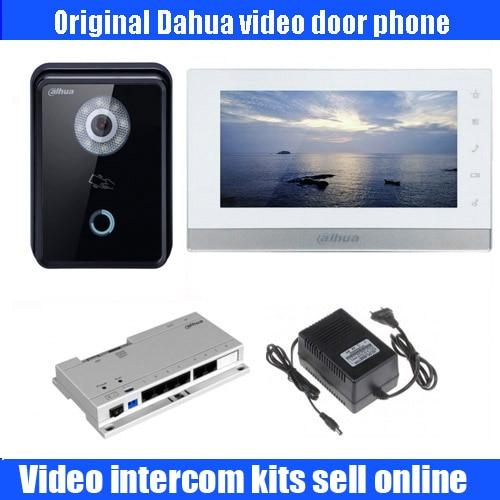 Original dahua english DH-VTH1550ch 7 Color Monitor with outdoor DH-VTO6210B IP Villa Outdoor POE IP Video Intercom sysytem