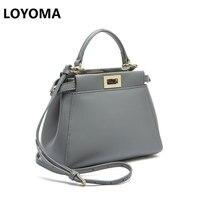 2016 New European Leather Handbag Small Portable Shoulder Messenger Bag Cat Peekaboo Mini