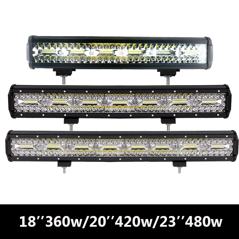 JSLMin Light Bar Led Light Offroad 18360W 20420W 23480W Triple Row Straight Combo Beams Led 4x4 accessories Spot Flood Lamps JSLMin Light Bar Led Light Offroad 18360W 20420W 23480W Triple Row Straight Combo Beams Led 4x4 accessories Spot Flood Lamps