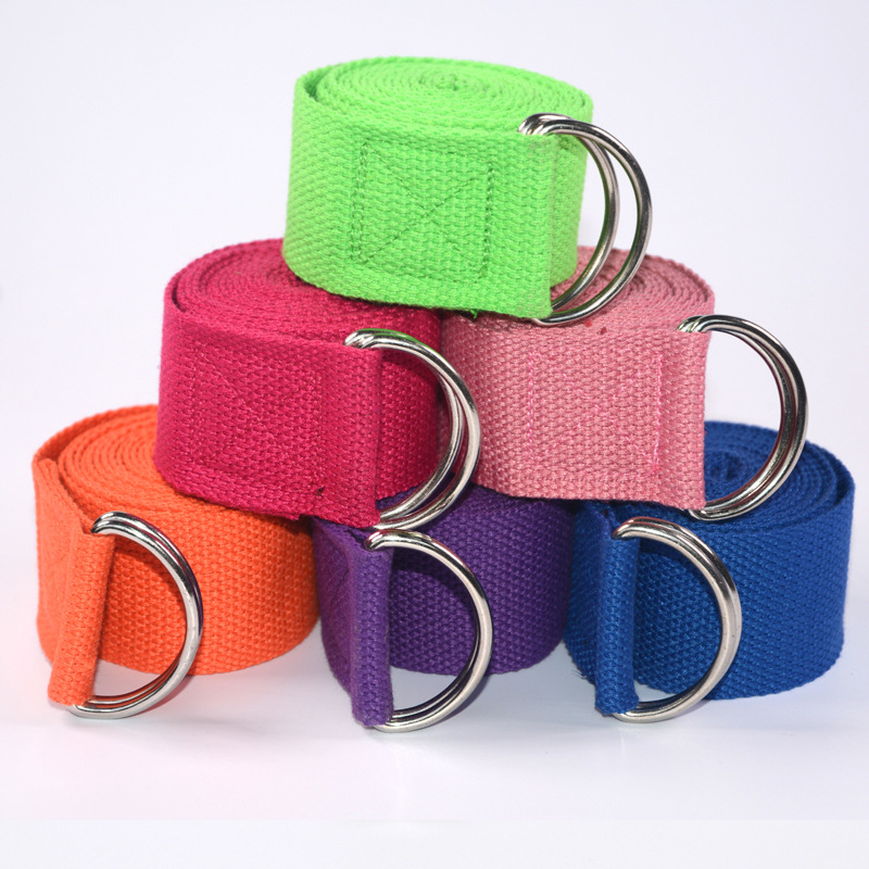 Women Yoga Stretch Strap Multi-Colors D-Ring Belt Fitness Exercise Gym Rope Figure Waist Leg Resistance Fitness Bands Yoga B-5