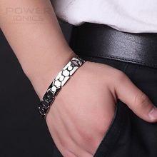 Potenza Ionics Titanio Potere di Guarigione Magnetica Wristband Del Braccialetto di Energia Del Corpo w/ Box