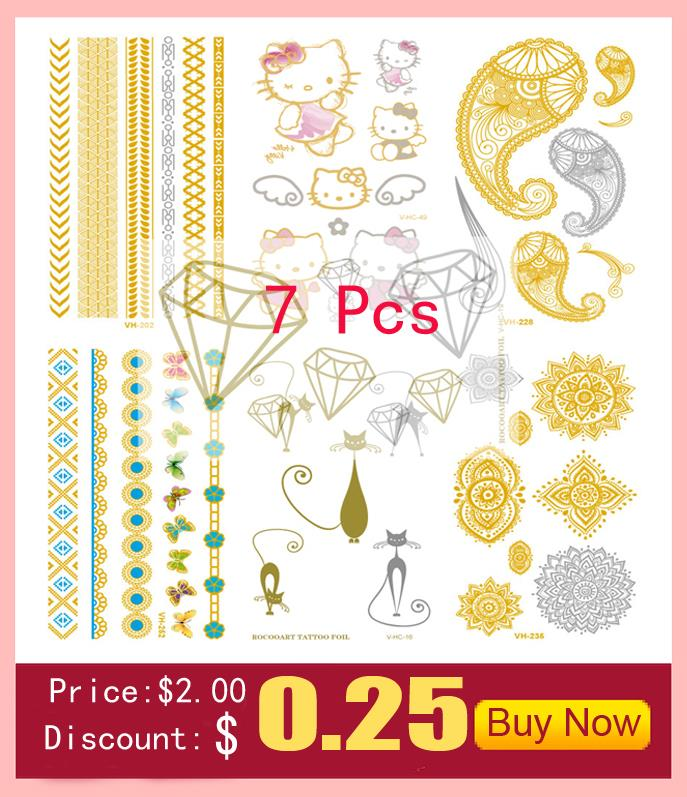 10pcs Waterproof Temporary Tattoos Sleeve Owl Fox Artificial Flowers Tattoo Many Designs Sex Men Beauty Body Art 3d Tatoo 1