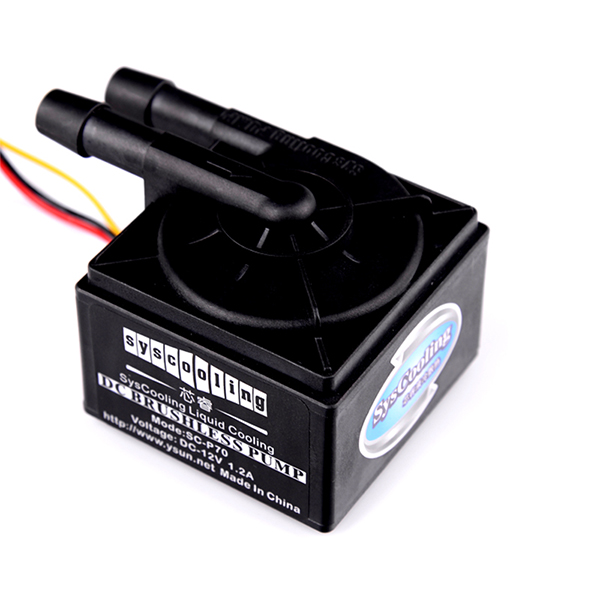 Syscooling high quality P70 water cooling mini pump for electronic and computer syscooling p60d water pump with water tank