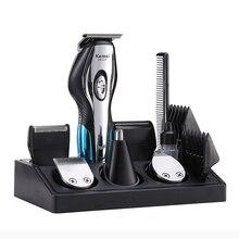Профессиональная электрическая машинка для стрижки волос Kemei 11 в 1, мужской триммер для волос, стрижка, бритва для носа, бритва для бороды, инструменты для укладки, машинка для бритья
