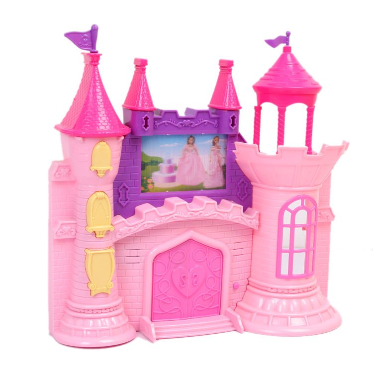 Pink Princess Castle Playset children with music with on
