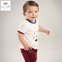 DB4919 Dave Bella Summer Baby Boys Clothing Setswhite Top Wine Red Shorts Child Set Infant Clothes