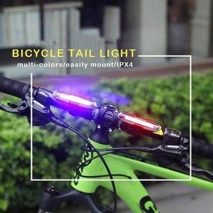 Image 4 - Передний и задний велосипедный фонарь с зарядкой через USB, светодиодный задний фонарь на литиевом аккумуляторе для велосипеда, светильник для шлема, крепление, велосипедные аксессуары