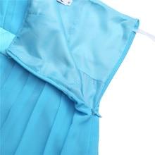 One Shoulder Sky Blue Flower Girl Dresses