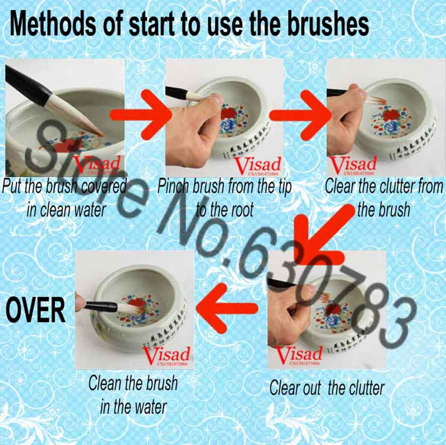 Chinesa Pintura Brush Pen Pintura Estacionária Da