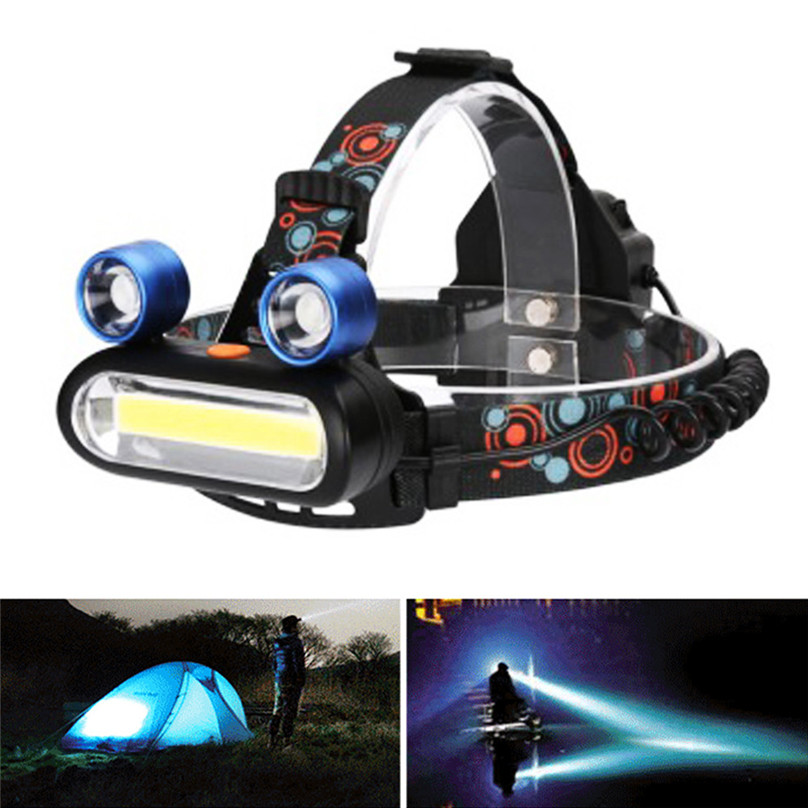 Galleria fotografica 5000Lumens T6 LED Headlamp Bicycle Head Light 3 Modes Bike Headlight Torch Flashlight Use 2X 18650 Battery 50ST13