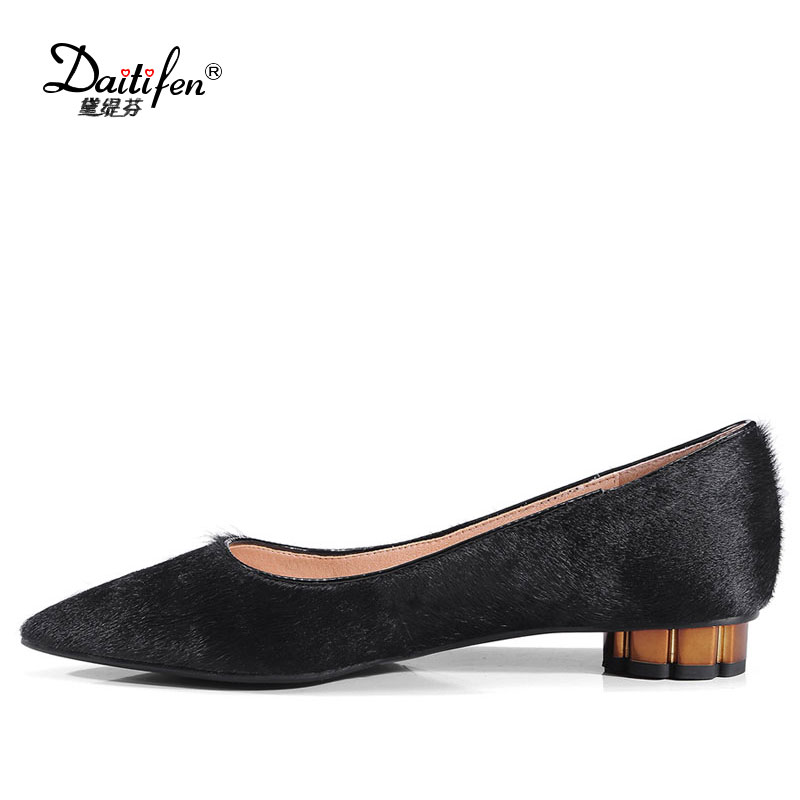 Daitifen New Ladies Solid Pointed toe Flat Shoes Women Shallow Slip-On Office Flats Female Concise Daily life Horsehair Flats hot sale 2016 new fashion spring women flats black shoes ladies pointed toe slip on flat women s shoes size 33 43