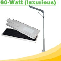 60W All In One LED Solar Street Lights Waterproof Outdoor Easy Installation12V LED Lamp for Solar Home Lighting System Luxurious