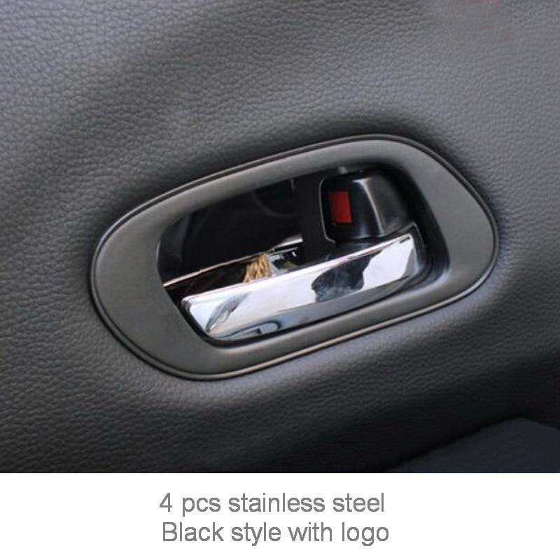 Tonlinker внутренняя дверная ручка чаши крышка наклейка s для HONDA VEZEL HRV-19 автомобильный Стайлинг 4 шт. крышка из нержавеющей стали наклейка - Название цвета: Black