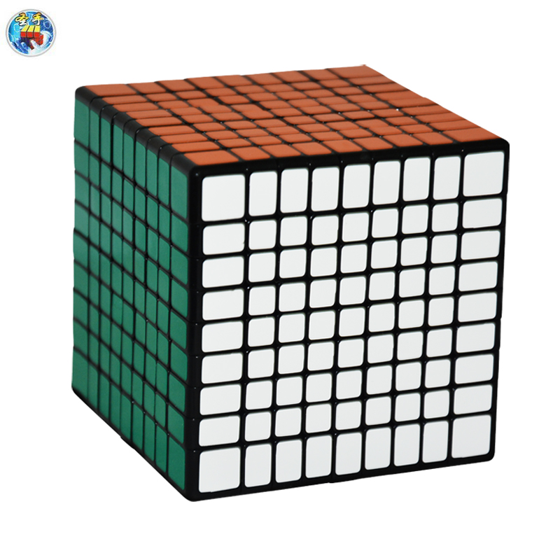 2016 New Shengshou 9.2cm 9x9x9 Cube(PVC Sticker) Magic Cube  Puzzle Speed Twist Learning & Education Toys