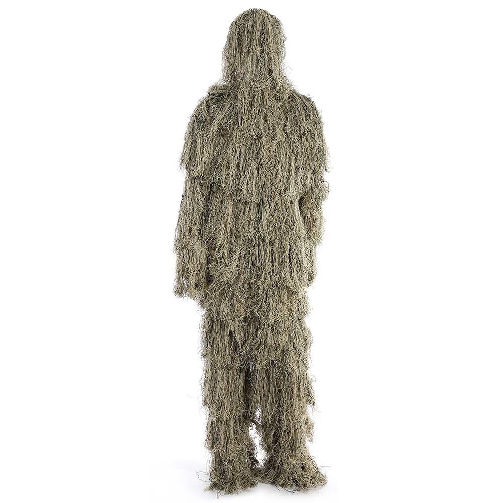 3D Ghillie Suit Set Military Tactical Camouflage Jungle Woodland Poncho Training Outdoor CS Hunting Clothing with Storage Bag cs camouflage suits set bionic disguise uniform hunting woodland sniper ghillie suit hunting jungle military train cloth s049