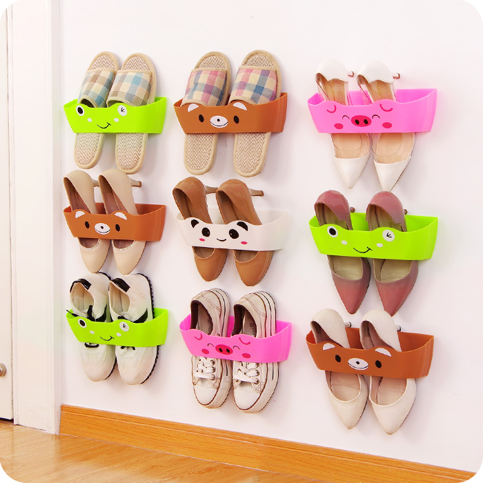 The Living Room Bathroom Hanging A Separate Stereo Cartoon Creative Shoe Door Wall Diy Combination Storage Rack PP Material