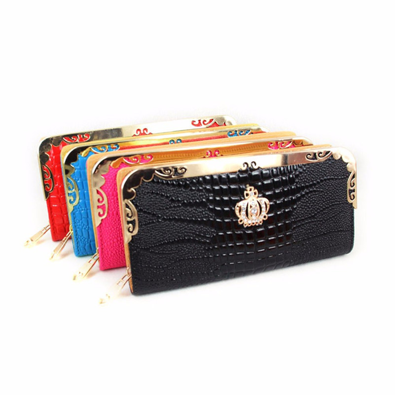 Imperial Crown Long Purse Women s Bags Carteira Lady New Design Women Wallets Clutch Solid Vintage