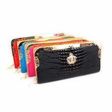 Imperial Crown Long Purse Women's Bags Carteira Lady New Design Women Wallets Clutch Solid Vintage Fashion Small Female Purse
