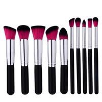 Pro 10pcs/set Makeup Brushes Powder Foundation Eyeshadow Eyebrow Eyeliner Blush Make up Brush Set Cosmetic Beauty Maquiagem 2019 Eye Shadow Applicator