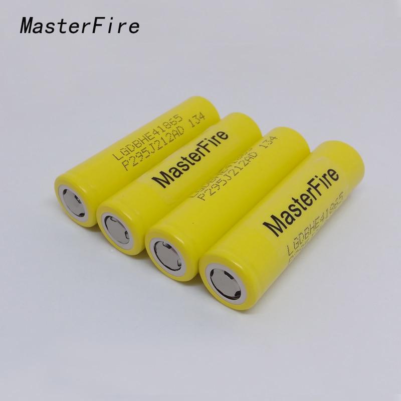MasterFire 10 pçs/lote Original Novo LG Chem 18650 ICR18650HE4 HE4 30A 35A descarga baterias de célula de bateria de lítio 2500mah