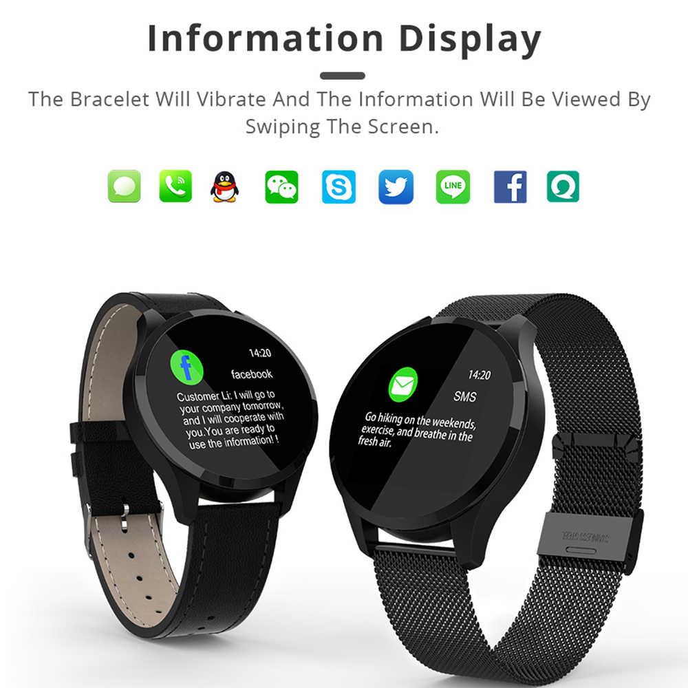 457b14476e8f Reloj inteligente Makibes T5 pulsera rastreadora de Fitness presión  arterial de oxígeno de moda PK Q8 smartwatch para la banda de Huawei Xiaomi