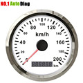 Car Truck Motor Auto GPS Speedometer 200 km/h Stainless steel waterproof Digital Gauges free shipping