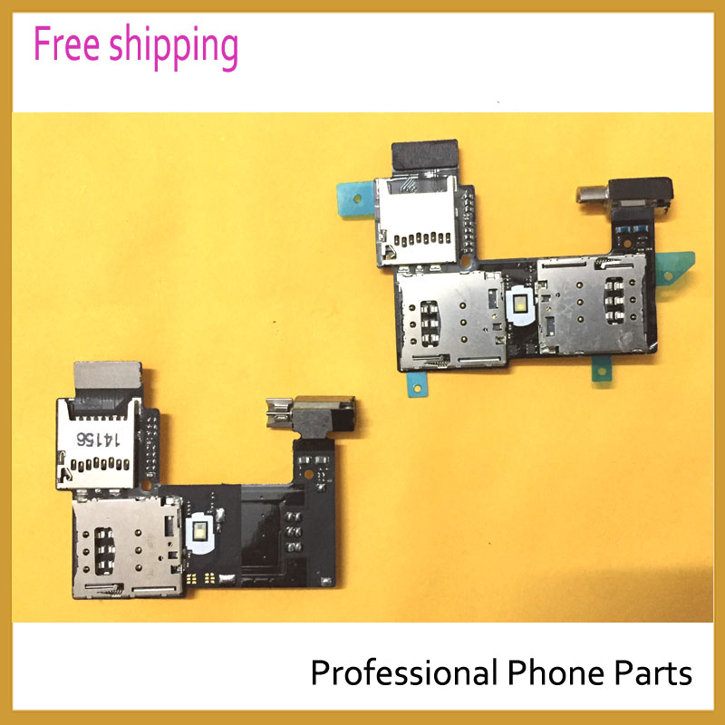 10pcs/lot Original For Motorola Moto G2 XT1068 XT1069 Sim Card Holder Micro SD Memory Socket Slot Tray Flex Cable