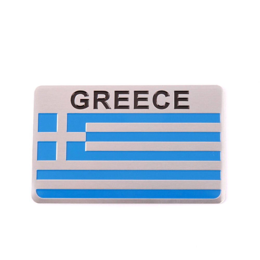 Aluminum alloy High quality GREECE National flag Car Sticker for volkswagen bmw mercedes renault ford toyota nissan accessories in Car Stickers from Automobiles Motorcycles
