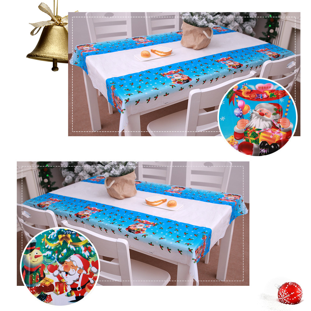 Kitchen Table Decorations For Christmas: Christmas Tablecloth Kitchen Dining Table Decorations Home