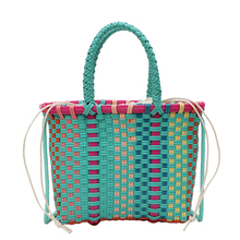 Multicolor Small Shoulder Bag for Girls Messenger Handbags Summer Beach Women Weaving Casual Crossbody Top-handle Bags Bolsas