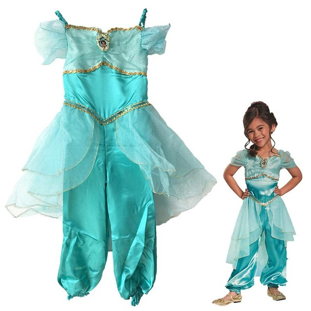halloween party cosplay children girl Aladdin jasmine princess costume Aladdin costume l& clothes clothing jumpsuit kid  sc 1 st  Aliexpress & Online Shop halloween party cosplay children girl Aladdin jasmine ...