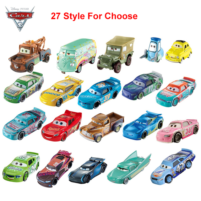 27 Style Disney Pixar Cars 3 Diecast Metal Lightning Mcqueen Car Toy