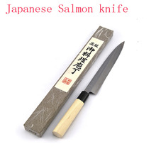 German Stainless Steel Sashimi Sashayed Salmon Sushi Knife Fillet Knives Kitchen Fish Slicing Cooking Knife free shipping