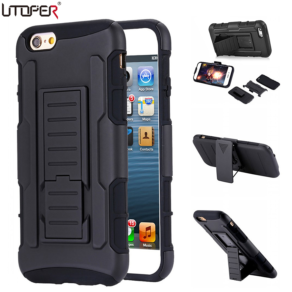 UTOPER Военное Дело противоударный чехол для iPhone 6 случае полной защиты ремешках крышка для iPhone 6 S тяжелых Подставки жесткий задняя