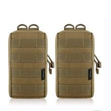 2pcs Tactical Accessory EDC Molle Pouch Utility Bag Gadget Gear Pack M