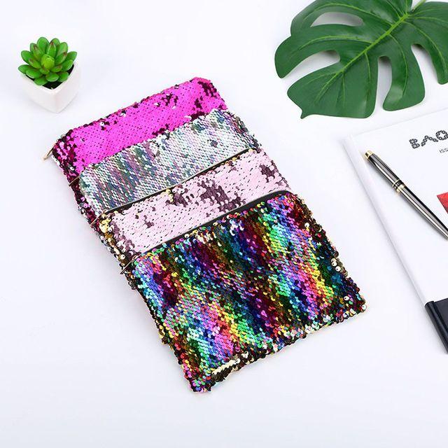 Women Mermaid Sequins Cosmetic Bag Large Capacity Clutch Handbag Evening Clutch Envelope Bag BlingBling Makeup Bag Pouch Cosmetic Bags