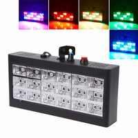 HNGCHOIGE 18 LED RGB/Weiß Licht Projektor Strobe Licht Für DJ Club Disco KTV Bühne Party Zeigen UNS/ EU Stecker 0-25W