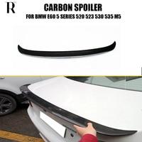 E60 Carbon Fiber Rear Wing Spoiler for BMW E60 520i 523i 530i 535i 520d 525d 530d 535d 2004 2006 AC Style
