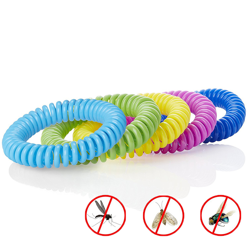 10pcs Anti Mosquito Repellent Environmental Protection Bracelets Multicolor Pest Control Bracelets Camping Outdoor Adults Kids