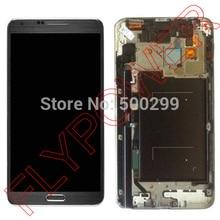 Untuk Samsung Galaxy Note 3 Neo SM-N750 LCD Display Dengan Touch Screen Digiitzer dengan Bingkai Majelis Abu-abu; 100% Garansi
