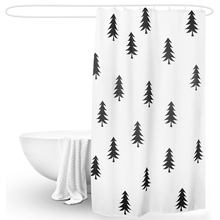 LIANGQI NEW White 3D digital printing shower curtain Level 5 waterproof thickening curtains partition tools Bathroom accessories