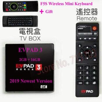New IPTV EVPAD 3 2G/16G Pro 1G/16G 2S+ 1G/8G 4K Smart