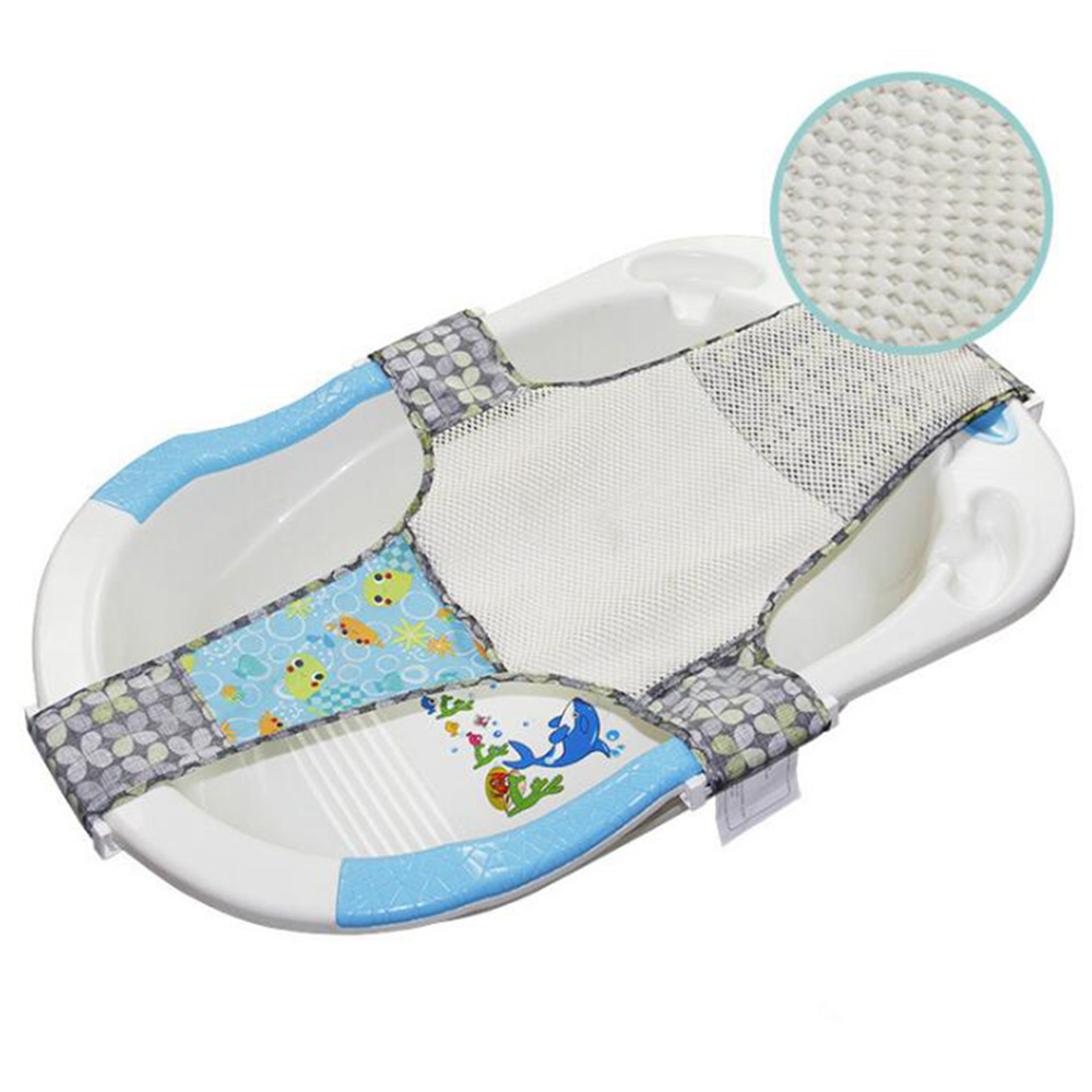 36Inch Kids Newborn Baby Cross Shape Bath Tub Mesh Net Foldable Baby ...