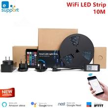 EWeLink 10M domotique Smart Home LED bande lumineuse réglable étanche Flexible RGB bande lumières fonctionnent avec Alexa Google Home