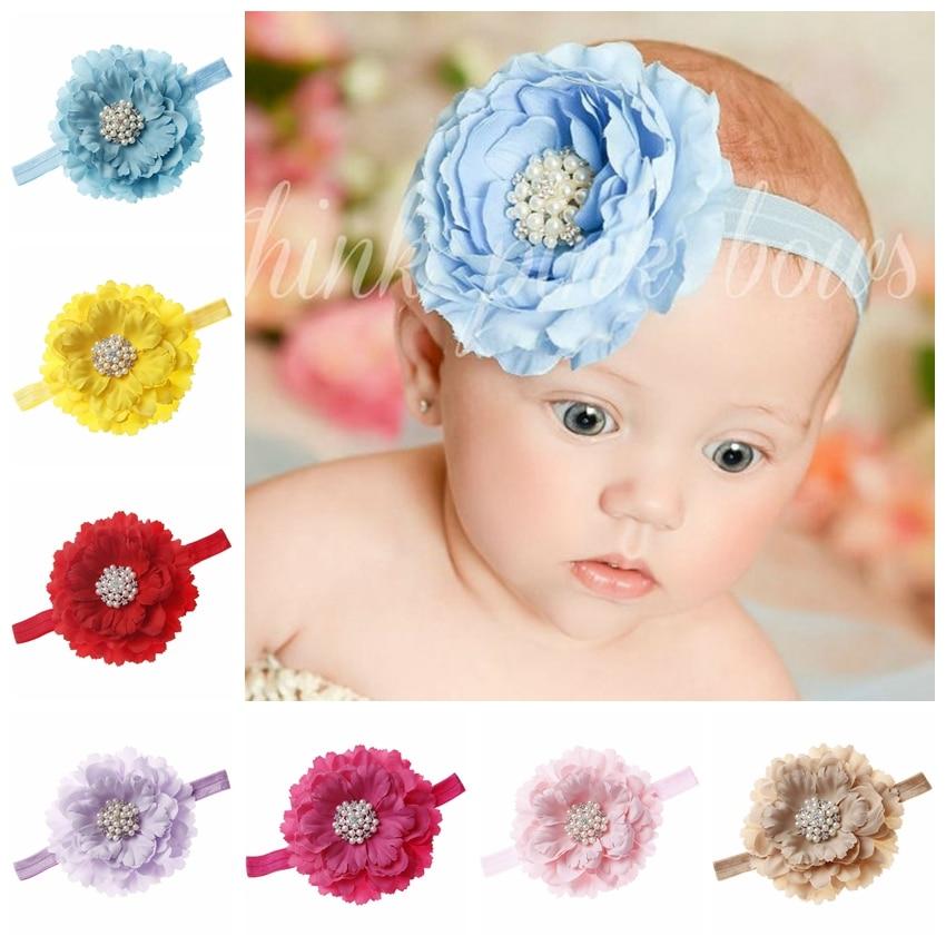 1Pc Newborn Baby Girl Boy Rabbit Rhinestone Bowknot Headband Hair Accessories