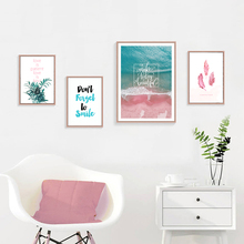 Feather Poster Sea Print Painting Abstract Art Canvas Plant Poster Quote Wall Prints Scenery Scandinavian Home Decor Unframed 41xdzs 151 159 160 162 4pcs chinese abstract scenery print art