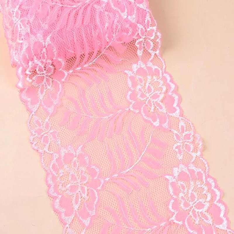 HL 1 ярд 18 см в ширину многоцветный стрейч трикотажное детское платье с кружевами кружево своими руками Костюмы ткани нижнее Белье для беременных одежда юбка украшения HB006