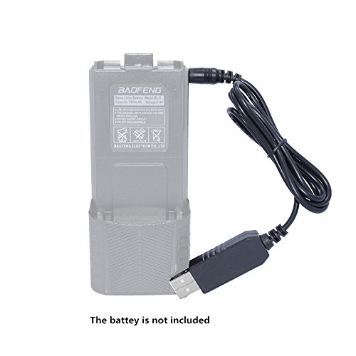 Baofeng USB Charger Cable for BaoFeng UV-5R BL-5L 3800mAh High Capacity Battery