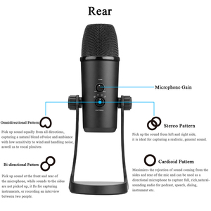 Image 3 - BOYA BY PM700 USB Condenser Microphone Desktop MIC for PC Computer Laptop Mac Interview Conferen Recording Video Podcast Live