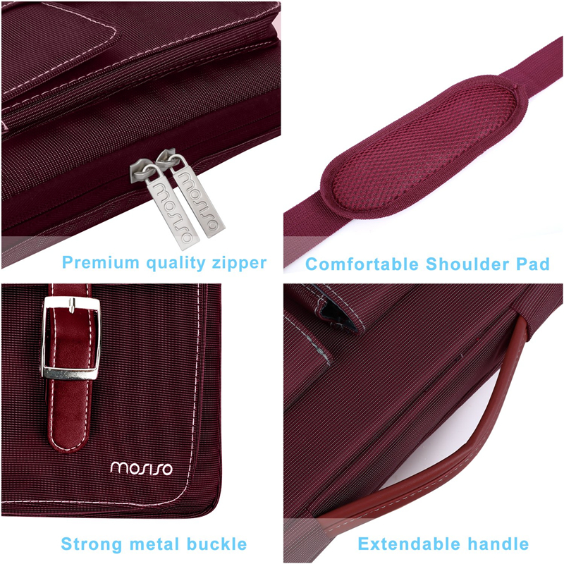 Image 5 - MOSISO Laptop Bag 13.3 14 15 15.6 Inch Waterproof Notebook Bag for Macbook Air Pro 13 15 Computer Shoulder Handbag Briefcase Bag-in Laptop Bags & Cases from Computer & Office